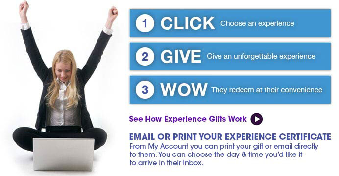 Click, Give,WOW. Unique experience gifts and things go in USA